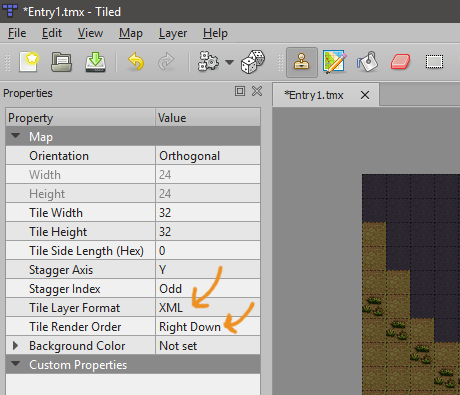 Tiled Can T Set Layer Properties